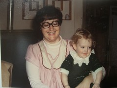 Aunt Cheryl and me.