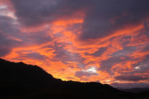 Sunrise over loch Maree and Beinn Airigh Charr