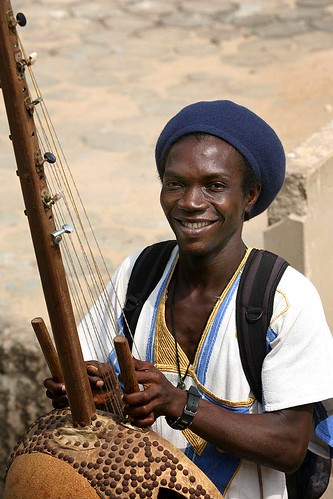 African man with his instrument