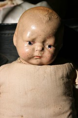 doll 2 (suzanneduda) Tags: old baby vintage doll antique creepy dollhead foundintrash inasuitcase