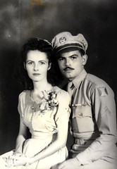 Rafael & Leonor 1945 San Juan, Puerto Rico on their wedding day (juliealicea1947) Tags: