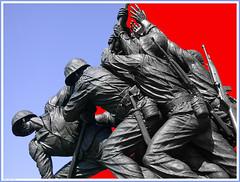 Marines and the Flag (2003) (Ron Cogswell) Tags: usmc iwojimamemorial semperfi raisingtheflag usmarinecorps marinecorpsmemorial roncogswell iwojimamemorialarlingtonva marinesandtheflag