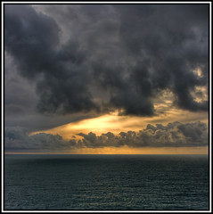 Small ship sailing into storm (xollob58) Tags: sunset sea france clouds frankreich brittany meer sailing ship sonnenuntergang horizon wolken bretagne schiff horizont segeln photoshopelements pointderaz aplusphoto diamondclassphotographer flickrgolfclub betterthangood
