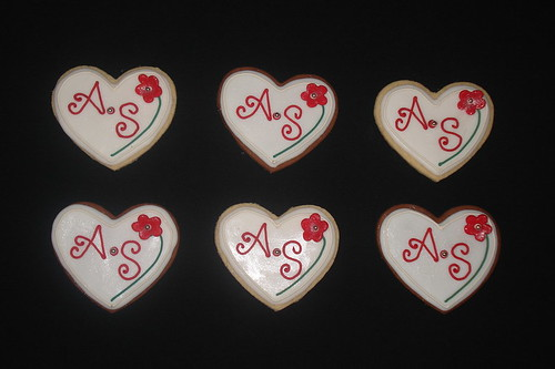 Bridal Shower Heart Cookies