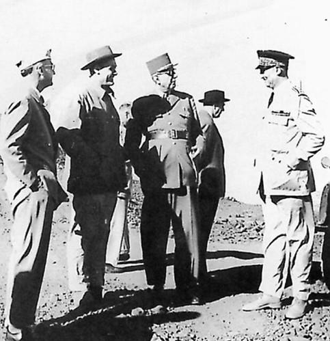 Visite du Général DE GAULLE. Octobre 1957