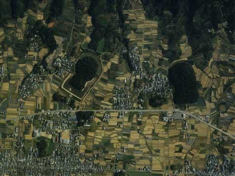景行天皇陵-航空写真