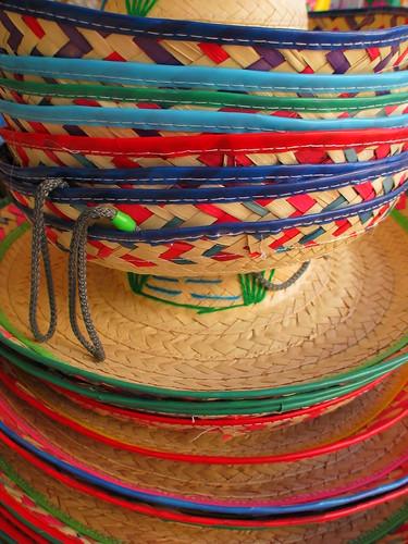Hats on sale in Piedras Negras, Mexico