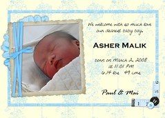 Asher's Birth Announcement