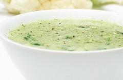 sopa creme de brocolis e couve flor