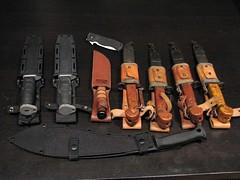 Knives Sheathed