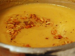 Dhal, Trini-style - chonkaying the dhal