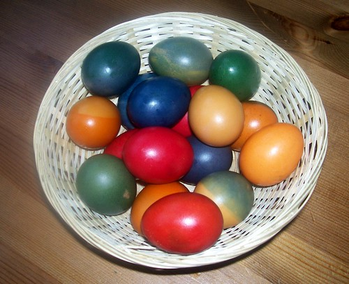 We colored eggs!