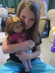 Corra and her new doll Mia