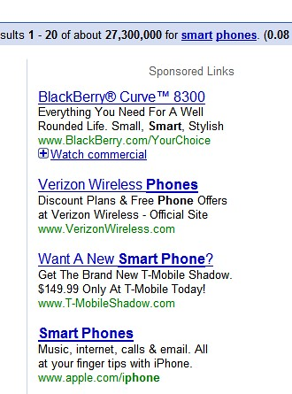 smartphones adwords
