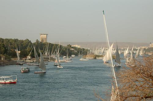 sailboat nile aswan felucca nilen detteeregypt