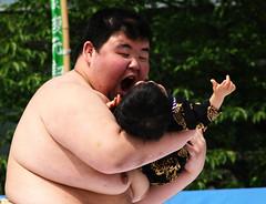 OM NOM NOM! (vyxle) Tags: baby festival japan sensoji japanese tokyo crazy scary tears babies fat c crying bodylanguage sumo scared asakusa wacky wah ahmunnaeatchoo nakizumo