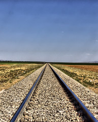 Railroad in Zanjan (Dedicated to Richard Wright) (arash_rk) Tags: railroad train persian iran iranian pars railtrack mellat zanjan  arashrazzaghkarimi  parsianpark