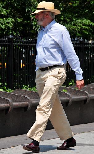A guy in khaki pants