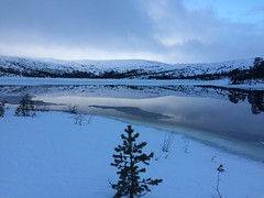 Sefrivatn og Dunfjellet i Grane Foto: Lars Lorentzen