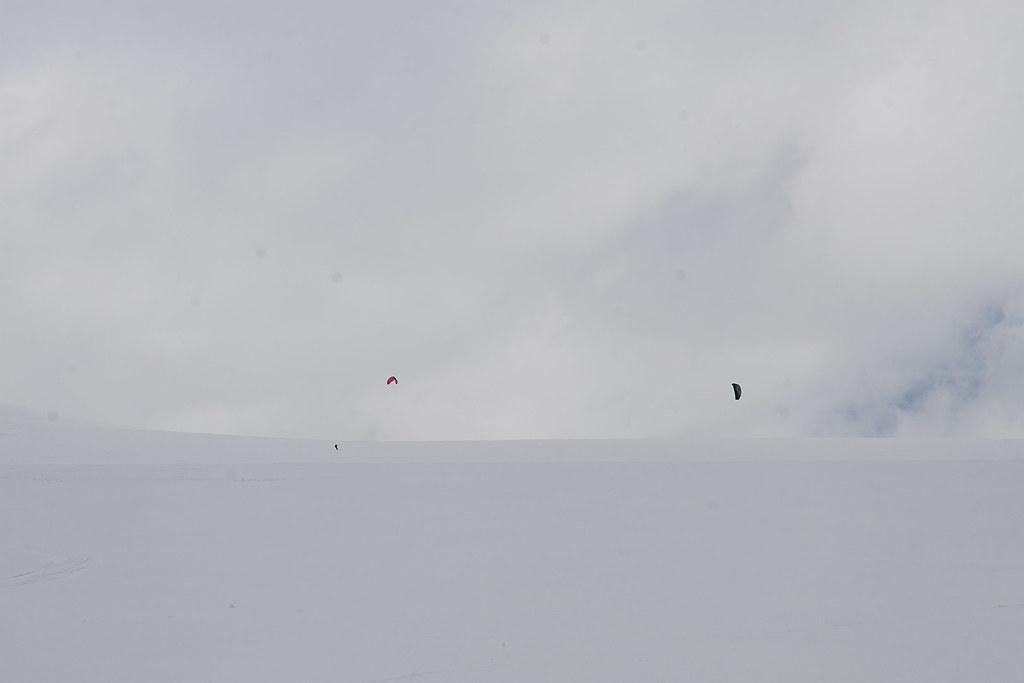 Kiting på Hardangerjøkulen