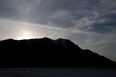 Kluane lake sunset
