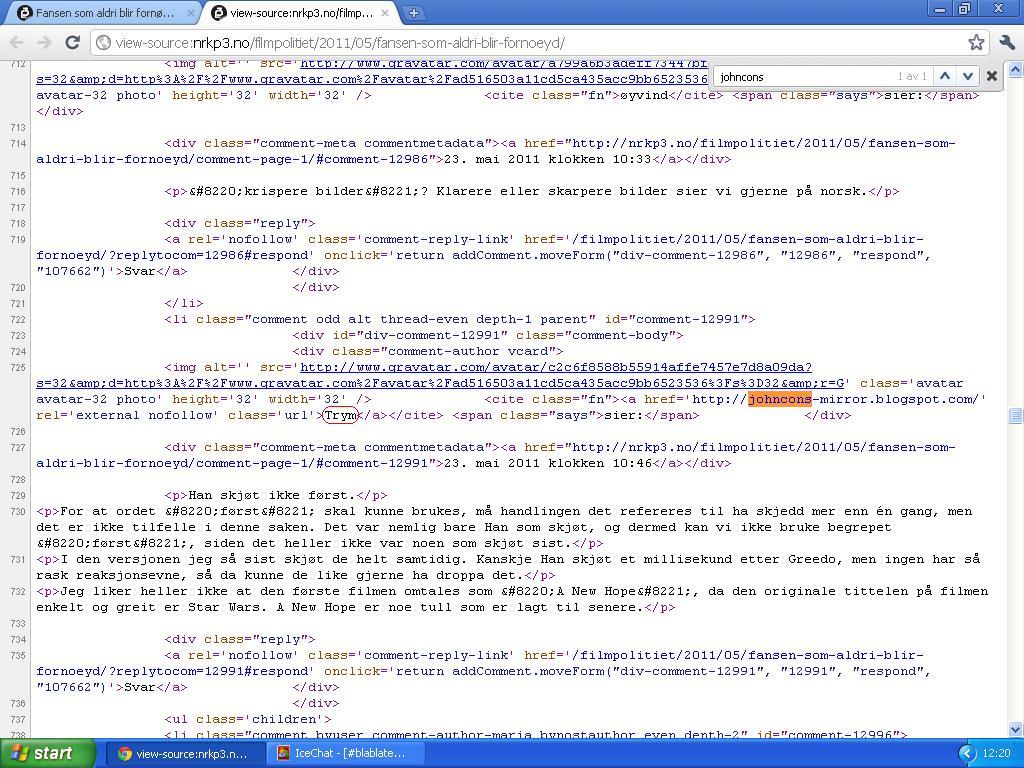 trym linker til johncons blogg