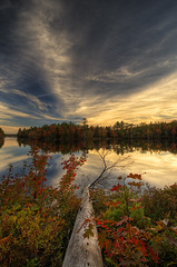 (iJohn) Tags: blue autumn red sky cloud lake colour reflection green fall water leaves yellow leaf pond bravo flickrsbest abigfave anawesomeshot