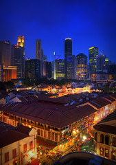 Other side of Durian City (BoyBitch) Tags: old blue sunset photography nikon singapore chinatown view district central smith business cbd d200 hdb hdr shophouse camboy