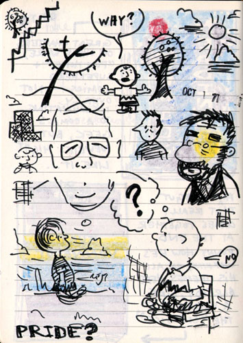 doodles of peanuts