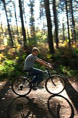 On AIR (paralecitam) Tags: autumn boy fall childhood bicycle forest walk sunday maciej maciek belgien paralecitam thegoldenmermaid maciekburgielski maciejburgielski burgielski