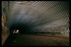 Dome (Mr Magoo ICU) Tags: light urban storm water paint cement tunnel brisbane drain explore stormwater urbex corrogation corrogated