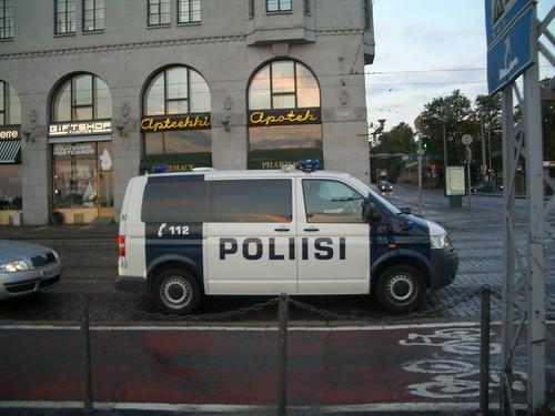 Coche de la policía de finlandia