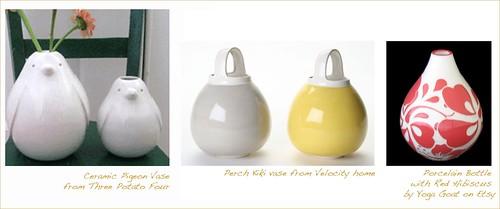 Tear drop vases