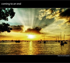 Coming to an End (deep shot) Tags: sunset marina boats florida sarasota sunbeam bayfront
