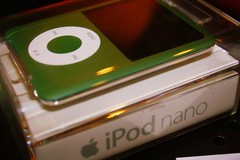 My New iPod Nano in Green