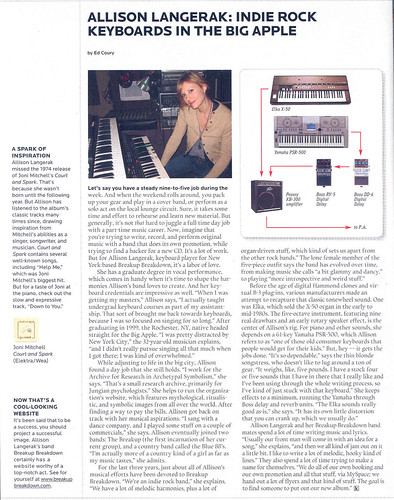 Keyboard Magazine Article