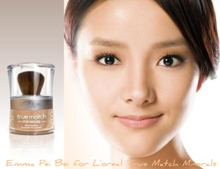 Emma Pei Bei For L'oreal True Match Minerals