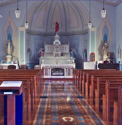 Saint Anne Roman Catholic Church, in French Village, Missouri, USA - interior