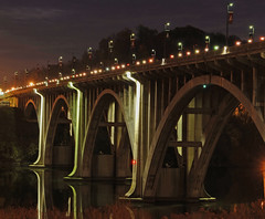 Henley Street Bridge Knoxville, TN (nickademusss (zachary-massengill.smugmug.com)) Tags: christmas street bridge night nikon long shot tn knoxville tennessee decoration overpass images getty d200 henley exsposure timed blinkagain henleystreetbridgeknoxville tnnikond200tennessee