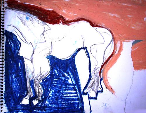 composición tema un caballo que estaba parado ahí