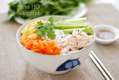 Lunch of the Day (*steveH) Tags: chicken lunch salad colorful cucumber egg explore carrot asianfood omelet vermicelli colorfulfood steveh