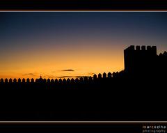Muralhas de Alandroal (Marco_Coelho) Tags: sunset portugal alentejo silhueta muralhas alandroal
