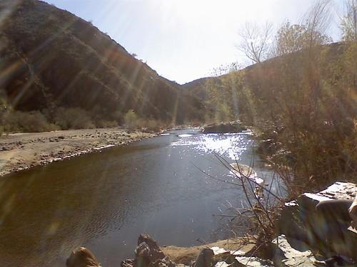 hiking the agua fria river near Black Canyon city
