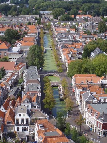 Delft desde el cielo