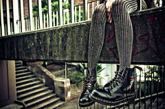 A slight Non-Sequitur (DoF Punk) Tags: university boots footbridge sydney 1755mmf28g glebe sydneyuniversity docmartens snapshotaesthetic