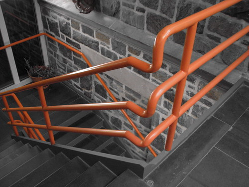 Orange Handrails