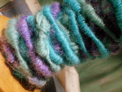 Wrap-and-Roll Technique corespun yarn