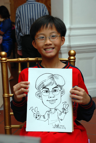 Caricature live sketching for wedding dinner2