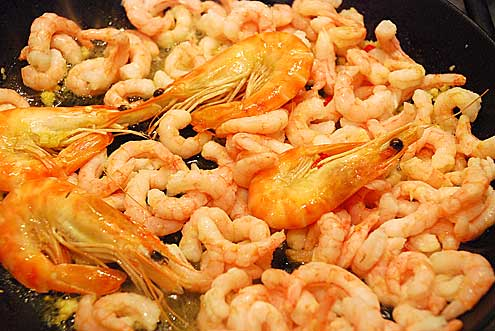 Chilli Prawns with Aioli