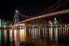 Holbeinsteg (Gilmoth) Tags: bridge night germany deutschland fiume main ponte utata notte frankfurtammain germania meno holbeinsteg utata:project=nocturnal2